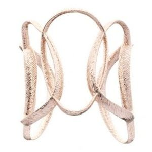 Ted Baker Rose Gold Textured Hoop Tamii Cuff